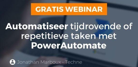 Power Automate webinar invite