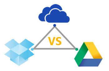 dropbox vs Google Drive vs OneDrive vs OneDrive for Business