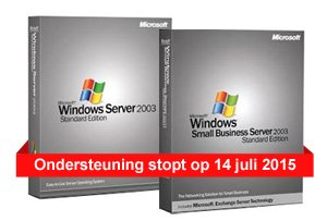 Windows Server 2003 en Small Business Server ondersteuning stopt